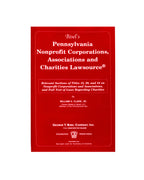 Pennsylvania Nonprofit Corporations, Associations & Charities Lawsource® (includes book + digital download)