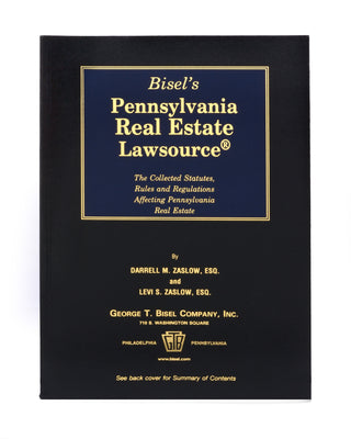 Pennsylvania Real Estate Lawsource® (includes book + digital download)