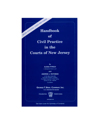 Handbook of Civil Practice in the Courts of New Jersey (includes book + digital download)