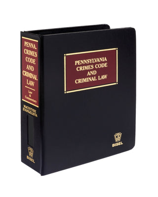 Pennsylvania Crimes Code & Criminal Law (includes book + digital download)