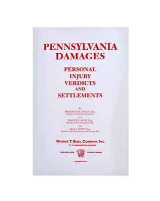 Z-Password Protected Digital Download - Pennsylvania Damages - Personal Injury Verdicts & Settlement