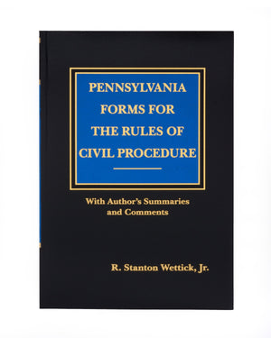 PA Forms for the Rules of Civil Procedure (includes book + digital download)