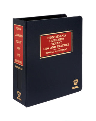 Pennsylvania Landlord-Tenant Law and Practice (includes book + digital download)