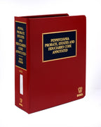 Pennsylvania Probate Estates and Fiduciaries Code - CD-ROM Version
