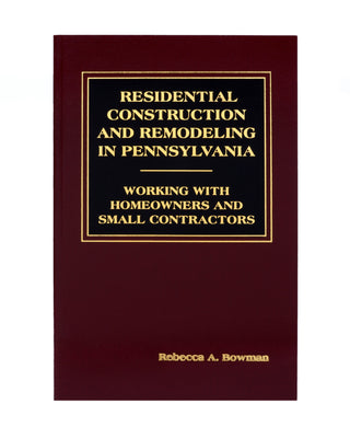 Z-Password Protected Digital Download - Residential Construction & Remodeling Law in Pennsylvania