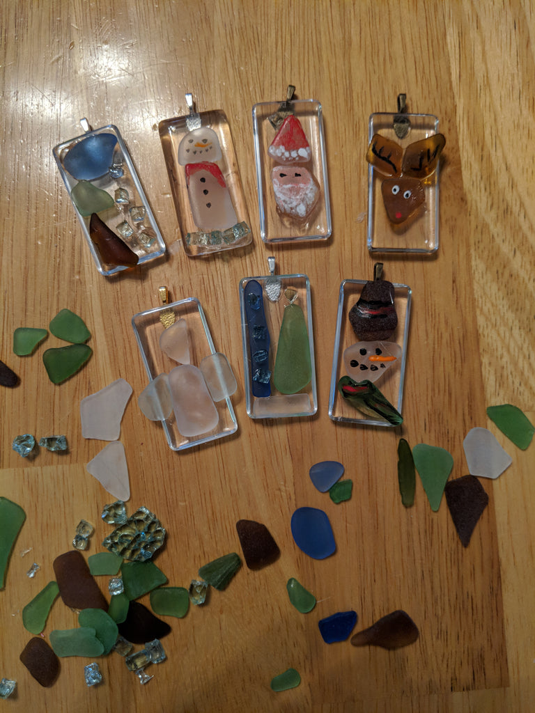 Bits & Pieces Sea Glass Ornaments