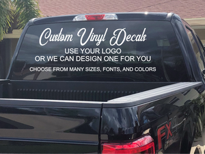 Large Custom Vinyl Decals