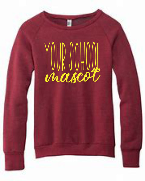 School Spirit Crewneck Sweatshirt