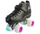 Riedell She Devil- 126 boot, Thrust plate, Villain or Striker wheels, ABEC 5 bearings, black adjustable stops
