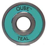 Qube Teal Bearings 8mm ABEC 5