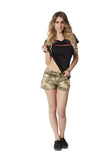 Women's camouflage mini shorts A-TACS AU