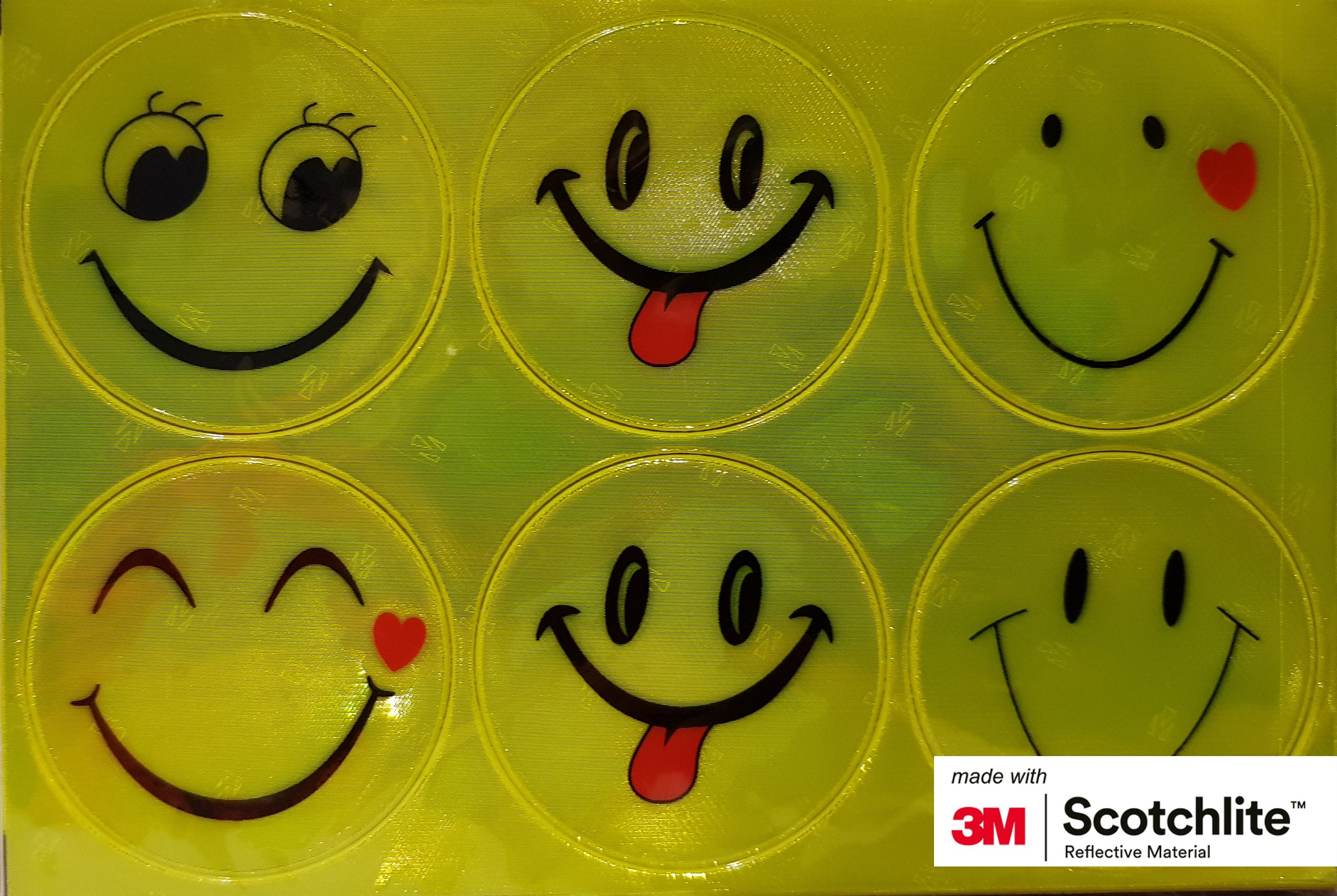 Salzmann 3M Scotchlite Reflective Stickers Smiley Faces