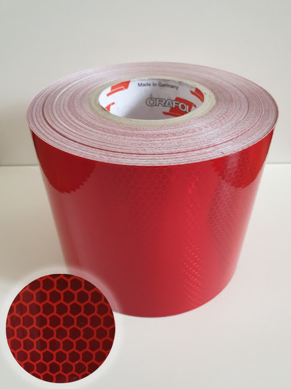 Oralite 5960 Red Reflective (Under & Over 40mph) 150mm*20m
