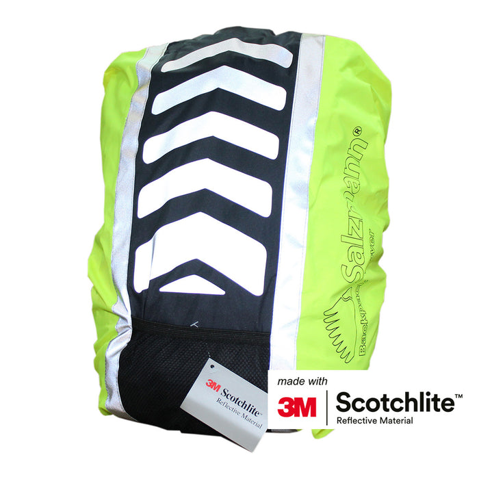 Salzmann 3M Scotchlite Reflective Waterproof Backpack Cover Fluorescent Yellow / Navy