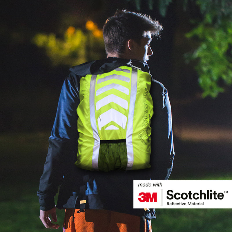 Salzmann 3M Scotchlite Reflective Waterproof Backpack Cover Fluorescent Yellow