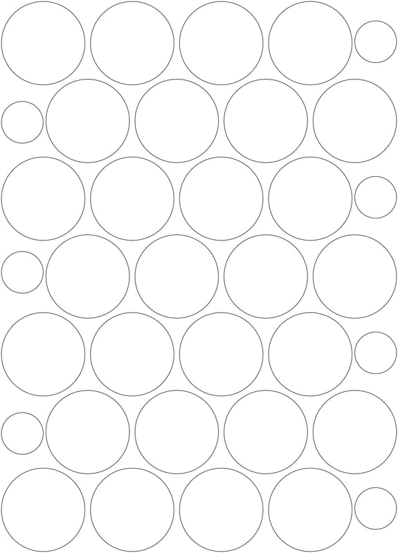 3M White/Silver Reflective Circles - A3 Sheet 60mm Circles