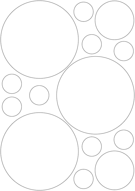 3M White/Silver Reflective Circles - A4 Sheet 120mm Circles