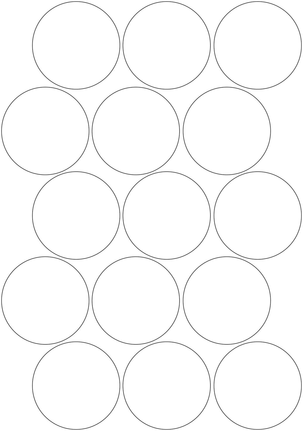 3M White/Silver Reflective Circles - A4 Sheet 60mm Circles