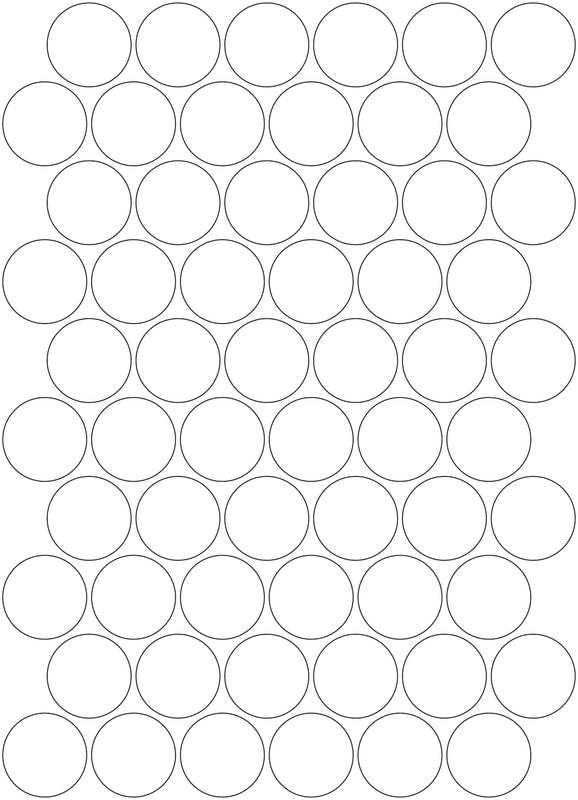 3M White/Silver Reflective Circles - A4 Sheet 30mm Circles