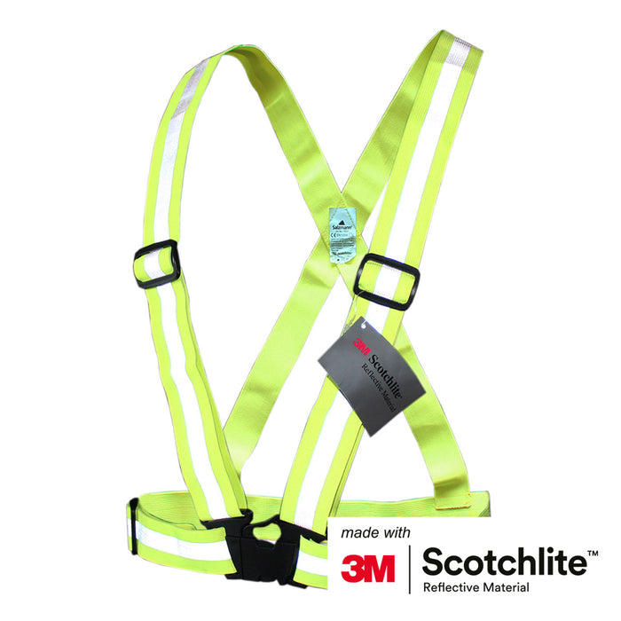 Salzmann 3M Scotchlite Reflective Cross Belt - Fluorescent Yellow