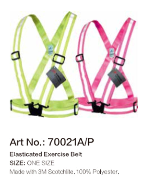 Salzmann 3M Scotchlite Reflective Cross Belt - Fluorescent Pink