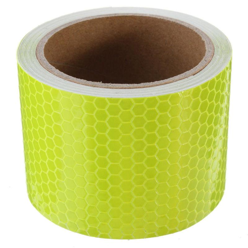 High Intensity Reflective Tape Fluorescent Yellow 100mm*13m