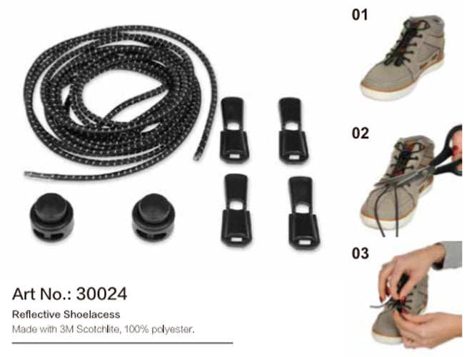 Salzmann 3M Scotchlite Reflective Shoe Laces