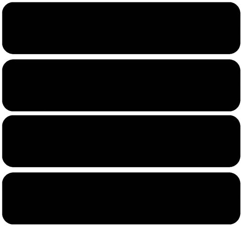 50x L80-111 No Black reflective stripe - 90mm x 25mm