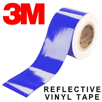 8 lots of 3M Scotchlite Blue Reflective Tape (25mm x 460mm)