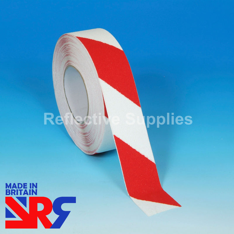 Anti Slip Tape (RS401) RED & WHITE HAZARD