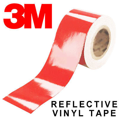 3M Scotchlite Red 680 Series Reflective Tape 2x 127mm*2m