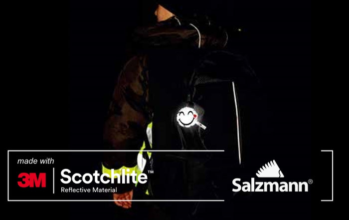 Salzmann 3M Scotchlite Reflective Hanger Smiley Face