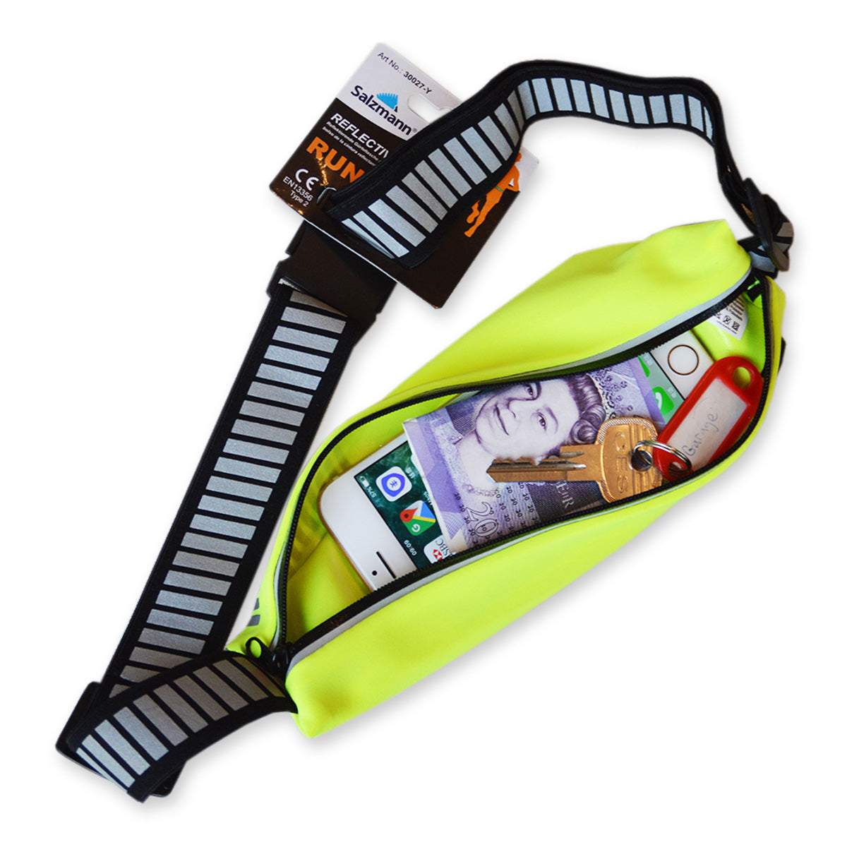 Salzmann 3M Scotchlite Reflective Waist Bag - Yellow