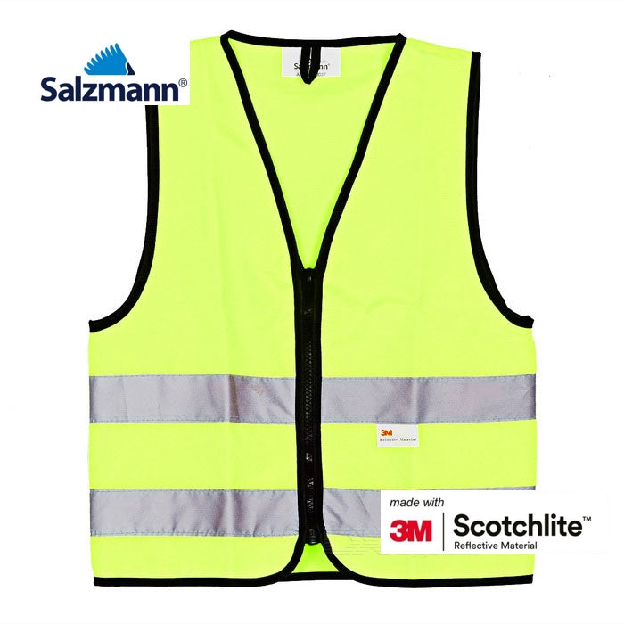 Salzmann 3M Scotchlite Childrens Hi-Vis Reflective Vest - Fluorescent Yellow