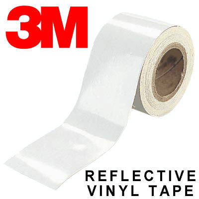 3M 680 White Scotchlite Reflective 10x 30mm*1m, 1x 40mm*1m