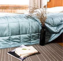 Load image into Gallery viewer, Cool Touch Aqua Bamboo Weighted Blanket