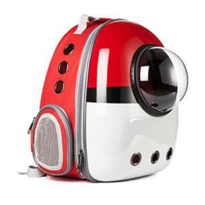 Astro Pet Nuvo non-waterproof pet carrier backpack - Red White
