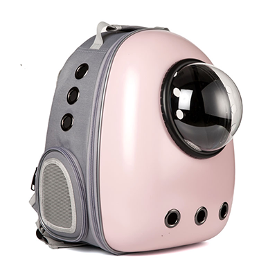 Astro Pet Nuvo non-waterproof pet carrier backpack - Pink Grey