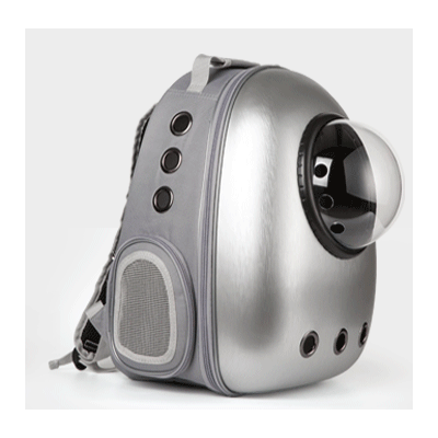 Astro Pet Nuvo non-waterproof pet carrier backpack - Silver Grey