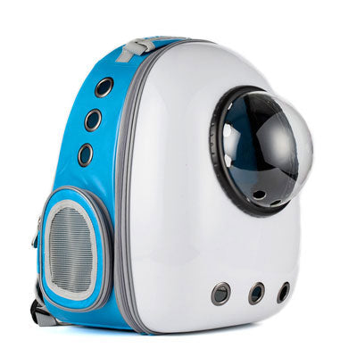 Astro Pet Nuvo waterproof pet carrier backpack - White Blue