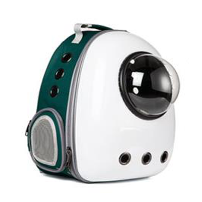 Astro Pet Nuvo non-waterproof pet carrier backpack - White Green