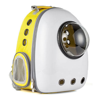 Astro Pet Nuvo waterproof pet carrier backpack - White Yellow