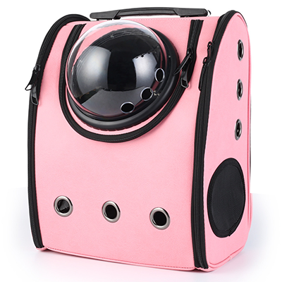 Astro Pet Big waterproof pet carrier backpack - Pink