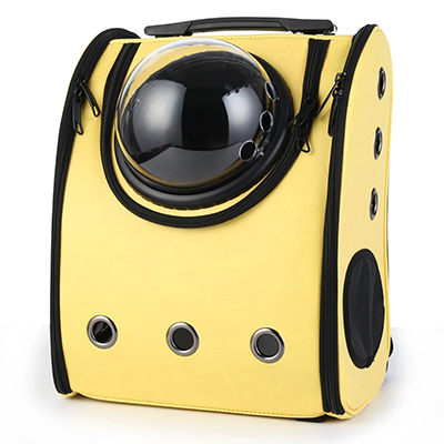 Astro Pet Big waterproof pet carrier backpack - Yellow