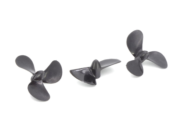 One two blade and two three blade propellers for ROV propulsion