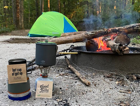 instant coffee camping