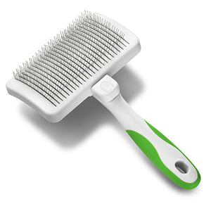 Andis Self-Cleaning Slicker Brush Lime Green