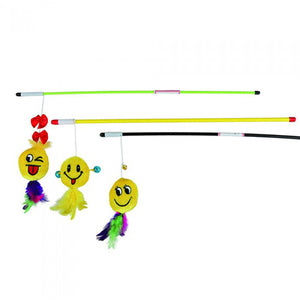 Trixie Playing Rod with Smiley 50 cm