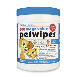 Petkin Mega Value Petwipes 200 Wipes