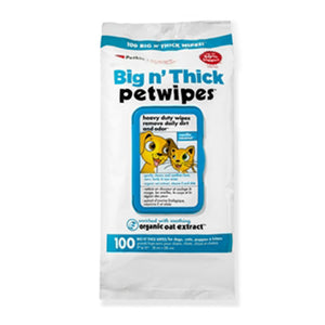 Petkin Big n' Thick Petwipes 100 Wipes